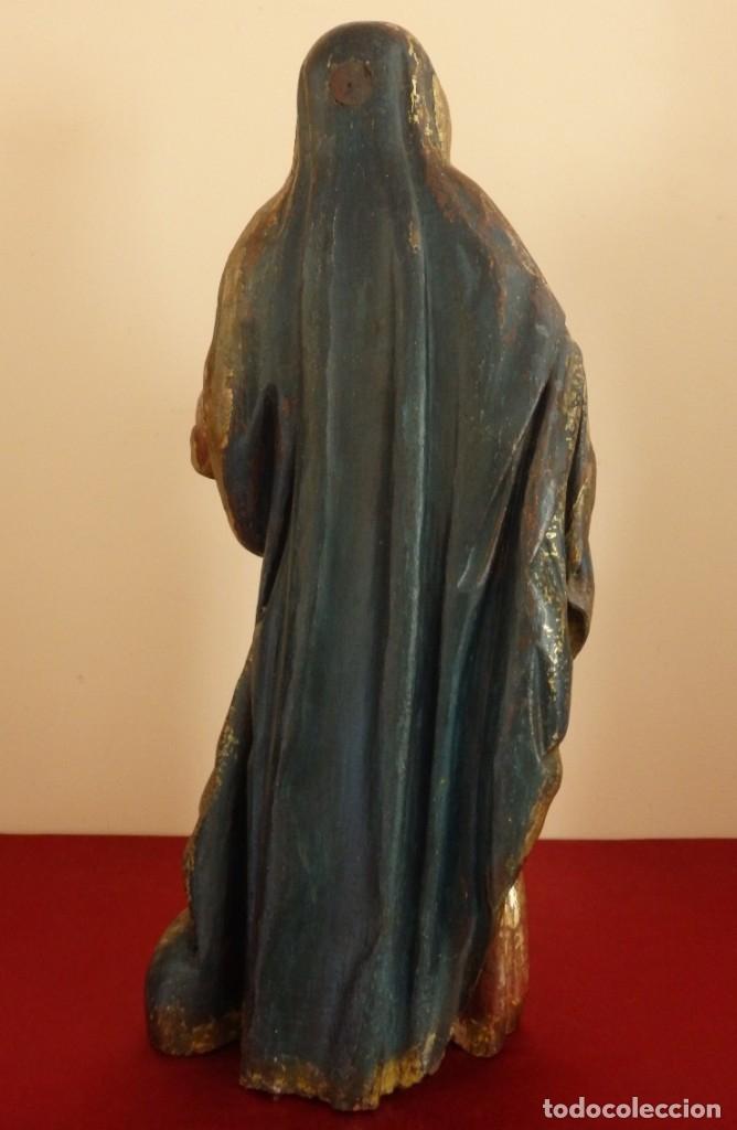 Arte: Santa Ana. Escultura del siglo XVII en madera tallada, estofada y dorada. Mide 74 cm de altura. - Foto 28 - 174268678