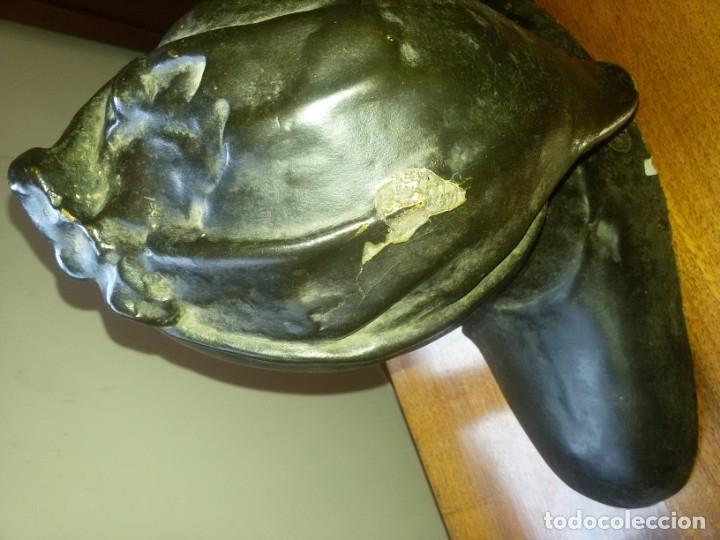 Arte: Antiquísimo busto de estuco-sello incrustado - Foto 4 - 174303430