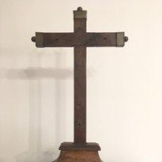 Arte: ANTIGUA CRUZ CON PENA PARA TALLA DE CRISTO ANTIGUO - SIGLO XVII-XVIII. Lote 174331792