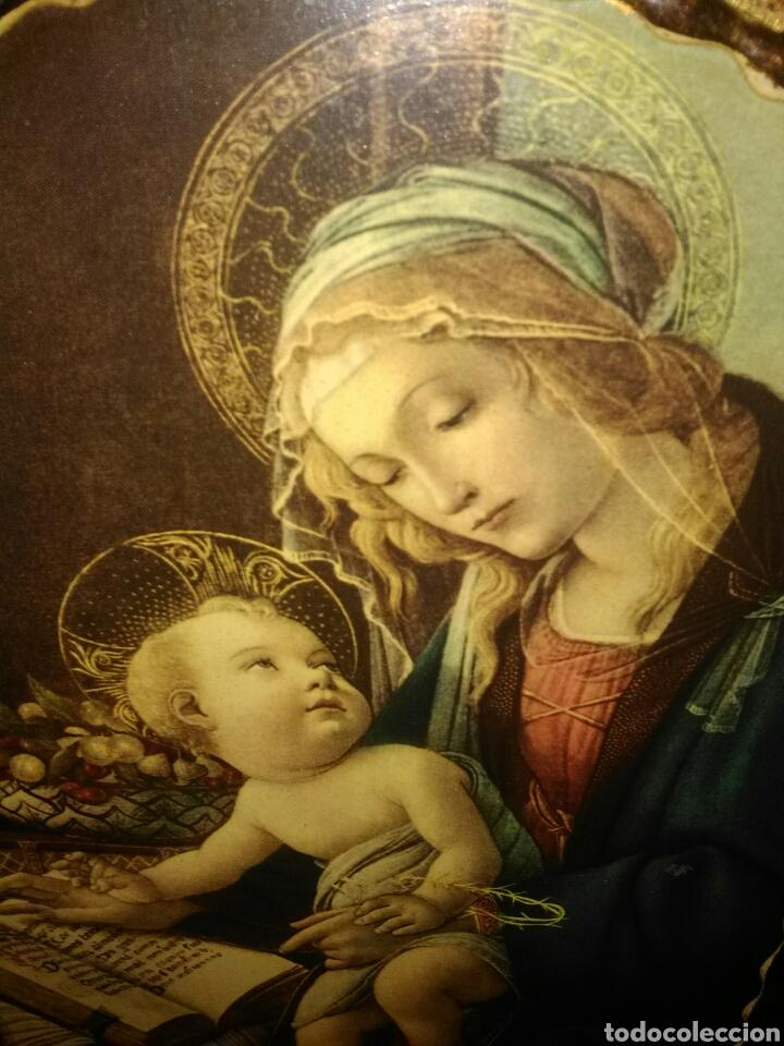 Arte: PRECIOSO TRÍPTICO RELIGIOSO.VIRGEN MARÍA CON NIÑO. ARCANGELES. - Foto 3 - 174377400