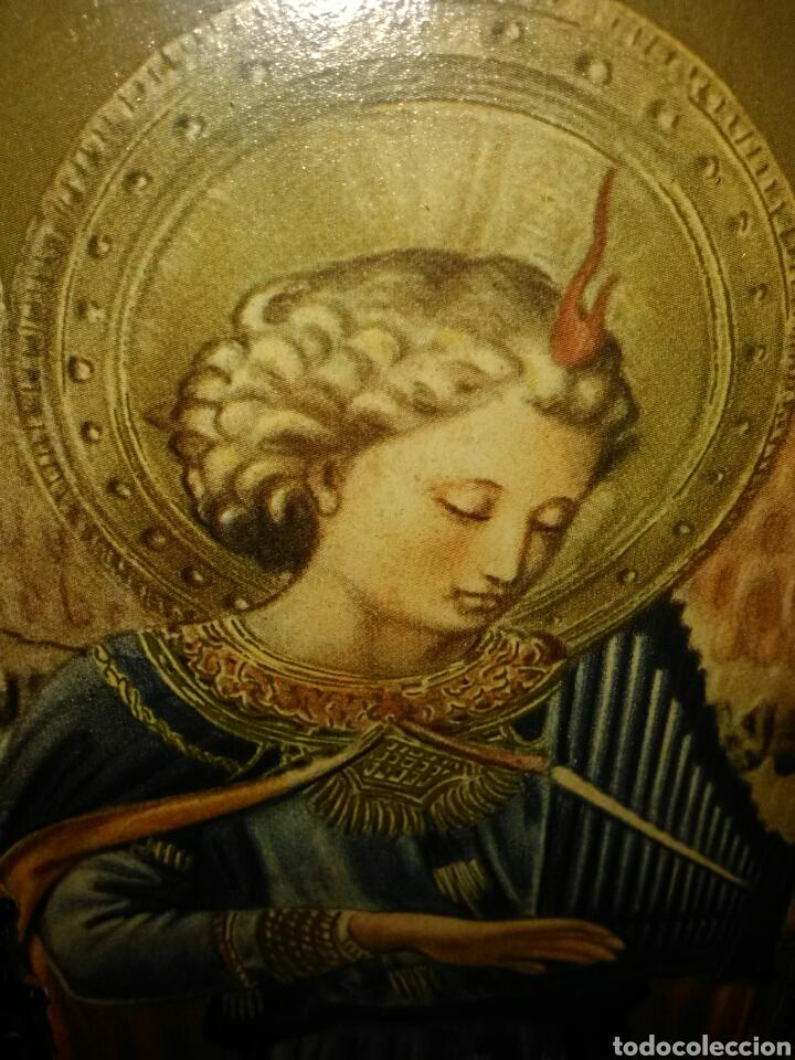 Arte: PRECIOSO TRÍPTICO RELIGIOSO.VIRGEN MARÍA CON NIÑO. ARCANGELES. - Foto 4 - 174377400