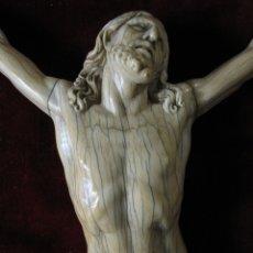 Arte: EXTRAORDINARIO CRISTO TALLADO EN MARFIL DEL S. XVII. MUY SEMEJANTE AL DE ALONSO CANO. Lote 174379873