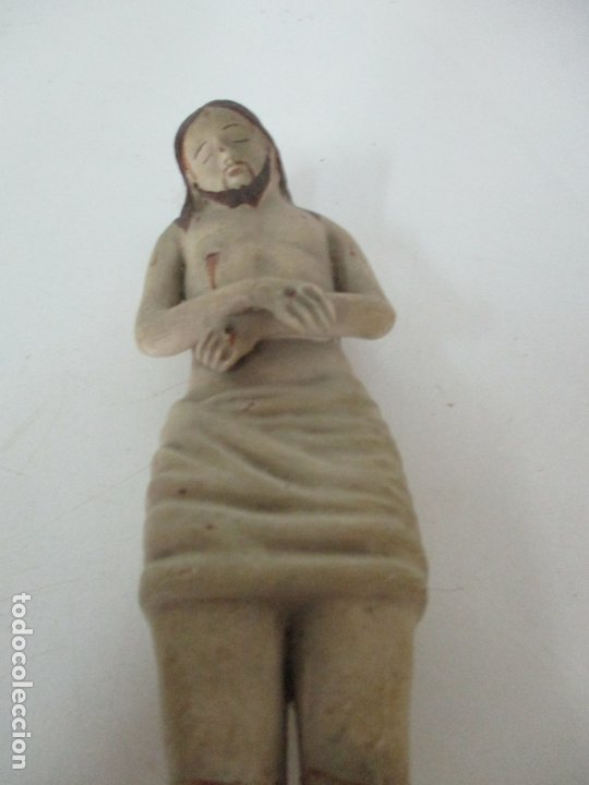 Arte: Antiguo Cristo Yacente - Terracota Policromada - 21 cm Altura - S. XIX - Foto 2 - 174391632