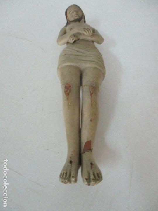 Arte: Antiguo Cristo Yacente - Terracota Policromada - 21 cm Altura - S. XIX - Foto 7 - 174391632