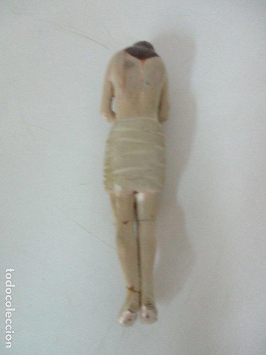Arte: Antiguo Cristo Yacente - Terracota Policromada - 21 cm Altura - S. XIX - Foto 11 - 174391632