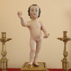 Arte: NIÑO JESÚS. ESCUELA ESPAÑOLA DEL SIGLO XVIII. MADERA TALLADA Y POLICROMADA. 53 CM.. Lote 174419863
