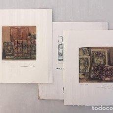 Arte: 2 GRABADOS AL AGUAFUERTE (COLOR) DE MARGA HERRERA. (ILAB. 38º INT CONGRESS. TIRADA NUMERADA. Lote 174439017