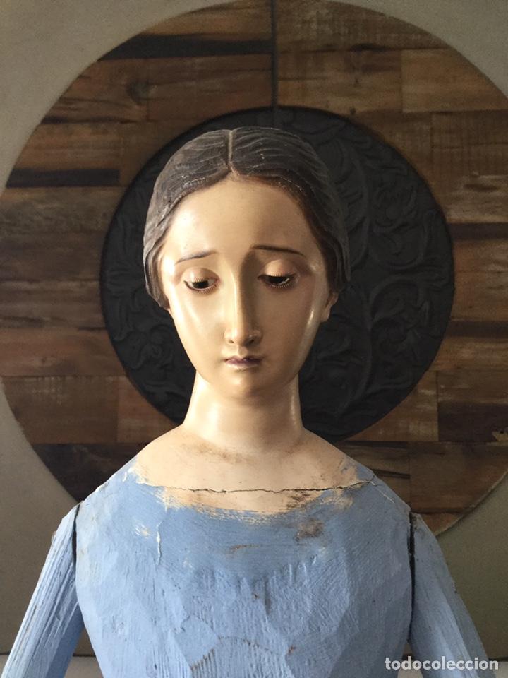 PRECIOSA VIRGEN VESTIDERA CAP I POTA SIGLO XIX (Arte - Arte Religioso - Escultura)