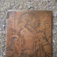 Arte: PLANCHA DE COBRE ORDEN DE LA VIRGEN DEL CARMEN VALENCIA SEGUNDA MITAD DEL SIGLO XVIII. Lote 174489948