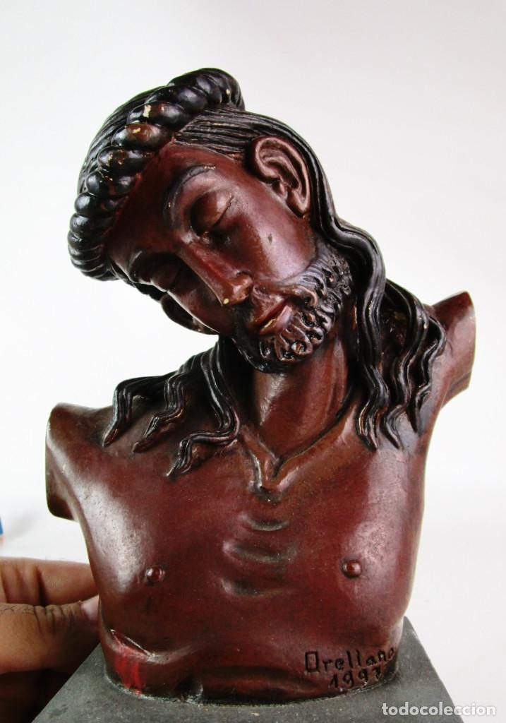Arte: INEDITA! REPLICA BUSTO CRISTO DEL SALVADOR SEGUN ORELLANA VALENCIA 1997 TERRACOTA POLICROMADA - Foto 2 - 174500763