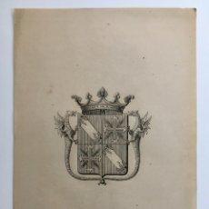 Arte: CUATRO GRABADOS HERÁLDICOS ANTIGUOS. Lote 174516775