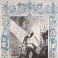 Arte: LA ORACIÓN PENETRA LOS CIELOS - GRABADO DÉCADAS 1850-1860 - BUEN ESTADO. Lote 174522329