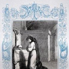 Arte: SAN ANDRÉS CORSINO, OBISPO DE FIESOLI Y CONFESOR - GRABADO DÉCADAS 1850-1860 - BUEN ESTADO. Lote 174522655