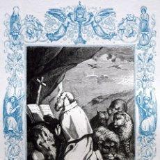Arte: SAN BLAS, OBISPO DE SEBASTE Y MARTIR - GRABADO DÉCADAS 1850-1860 - BUEN ESTADO. Lote 174522693