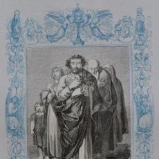 Arte: SAN SATURNINO Y COMPAÑEROS MÁRTIRES - GRABADO DÉCADAS 1850-1860 - BUEN ESTADO. Lote 174522913