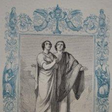 Arte: SAN CASTO Y SAN SECUNDINO, MÁRTIRES - GRABADO DÉCADAS 1850-1860 - BUEN ESTADO. Lote 246128135