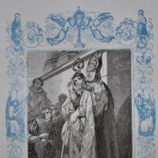 Arte: SAN FRANCISCO DE SALES, OBISPO Y MARTIR - GRABADO DÉCADAS 1850-1860 - BUEN ESTADO. Lote 174523109