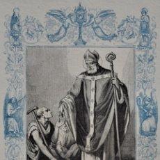 Arte: SAN ELADIO, ARZOBISPO DE TOLEDO - GRABADO DÉCADAS 1850-1860 - BUEN ESTADO. Lote 174523472