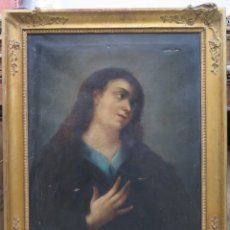 Arte: MARIA MAGDALENA. OLEO S/ LIENZO. ESCUELA ESPAÑOLA. SIGLO XIX. MARCO DE EPOCA. Lote 174575877