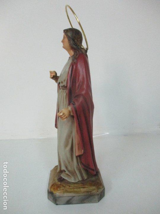 Arte: Curiosa Virgen - Santa Irene - Estuco Policromado - Sello Arte Olotense, Olot - Principios S. XX - Foto 15 - 174580274