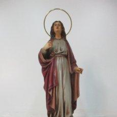Arte: CURIOSA VIRGEN - SANTA IRENE - ESTUCO POLICROMADO - SELLO ARTE OLOTENSE, OLOT - PRINCIPIOS S. XX. Lote 174580274
