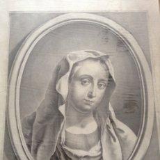Arte: GRABADO ANTIGUO ORIGINAL RETRATO DE LA VIRGEN. Lote 174580890