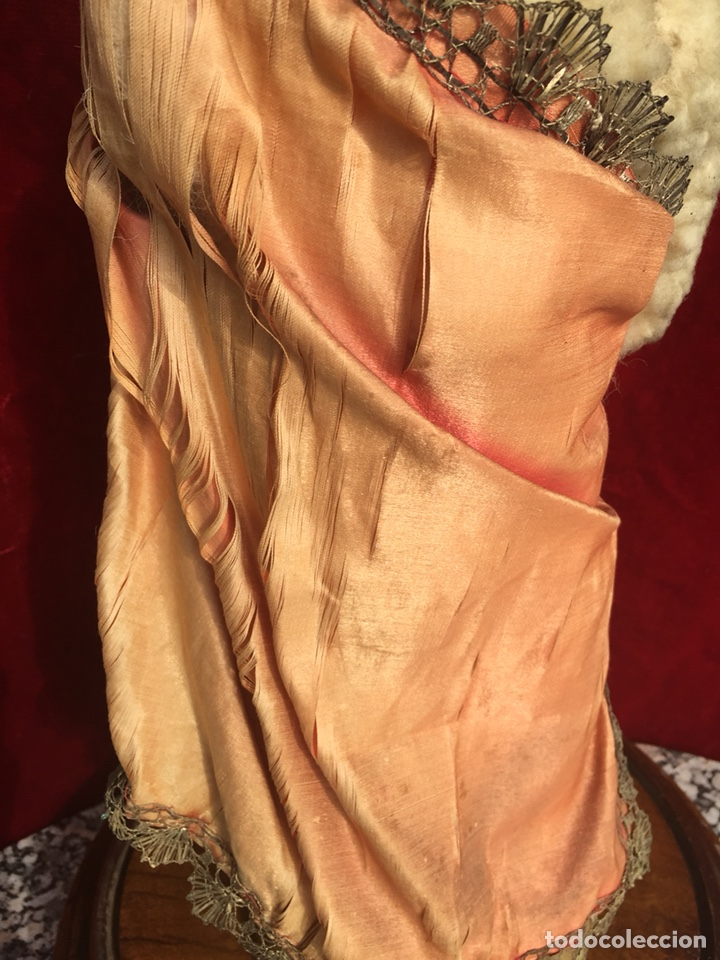 Arte: Precioso San Juanito, imagen vestidera, cap i pota en madera policromada. Siglo XIX. - Foto 14 - 174585310
