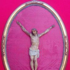 Arte: TALLA EN MADERA DE CRUCIFICADO ESCUELA BARROCA SEVILLANA, DE FINALES SIGLO XVII . DIM.- 82X61 CMS. Lote 174588168