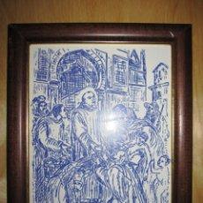 Arte: CUADRO AZULEJO ESMALTADO SAN JUAN DE DIOS , SAN JUAN GRANDE. Lote 174594815