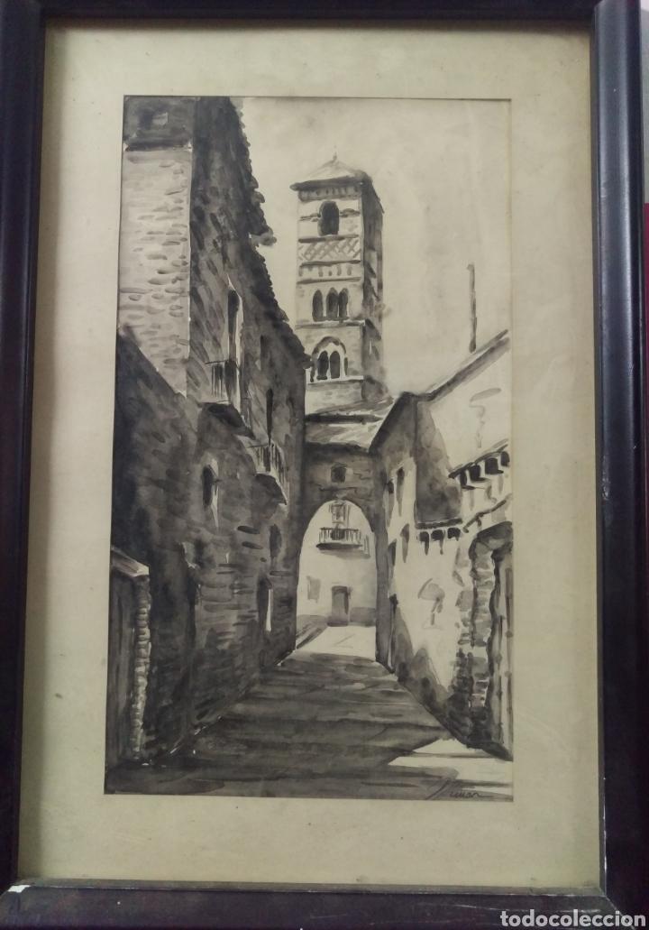 Arte: Paisaje tinta acuarela original firmado MUNAR - Foto 2 - 174595269