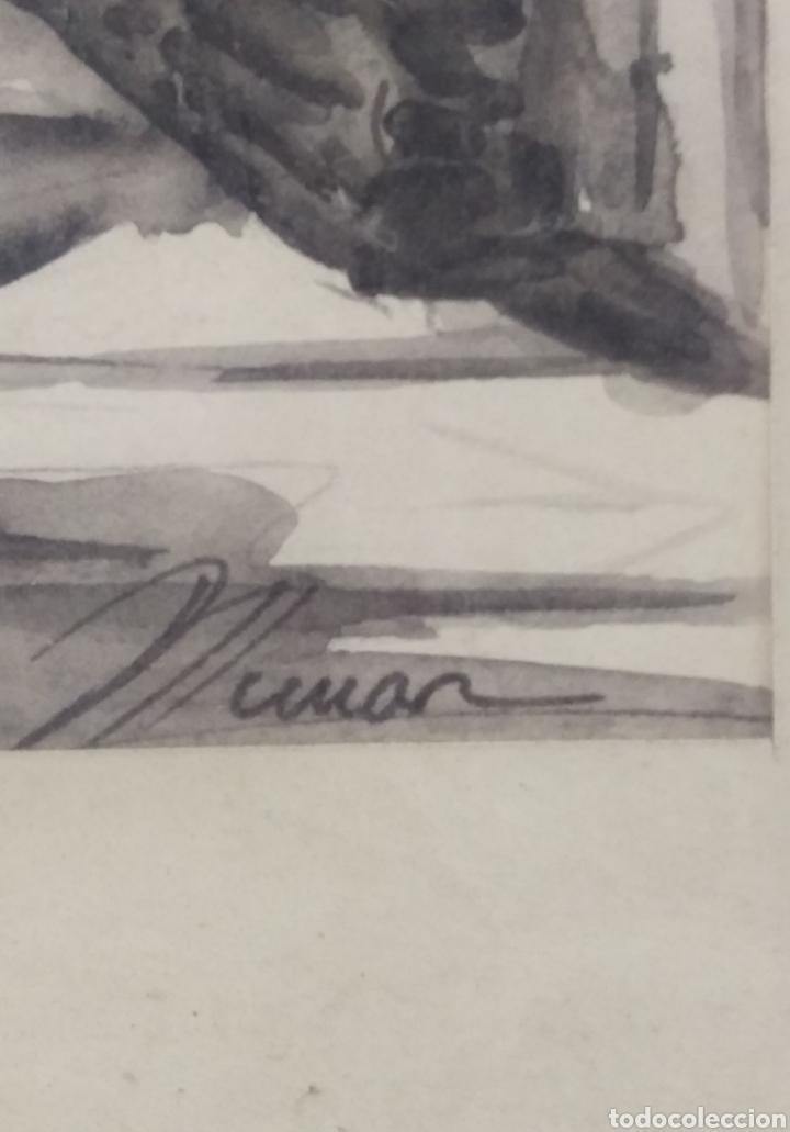Arte: Paisaje tinta acuarela original firmado MUNAR - Foto 3 - 174595269