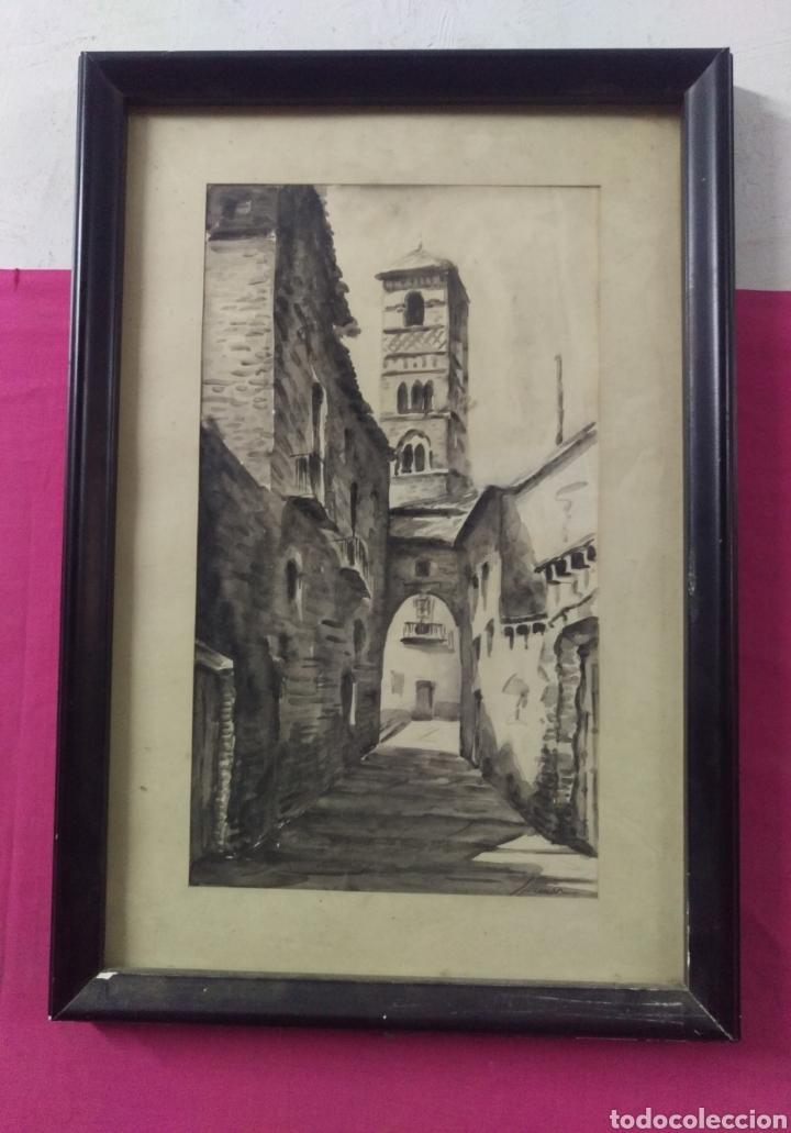 Arte: Paisaje tinta acuarela original firmado MUNAR - Foto 4 - 174595269