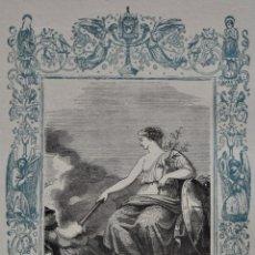 Arte: CON LA PAZ TODO FLORECE - GRABADO DÉCADAS 1850-1860 - BUEN ESTADO. Lote 174649693