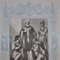 Arte: SAN CALIXTO, PAPA Y MARTIR - GRABADO DÉCADAS 1850-1860 - BUEN ESTADO. Lote 174650667