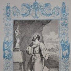 Arte: SANTO DOMINGO DE LA CALZADA - GRABADO DÉCADAS 1850-1860 - BUEN ESTADO. Lote 174651368