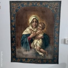 Arte: TAPIZ MADONA VIRGEN CON NIÑO. Lote 174861918