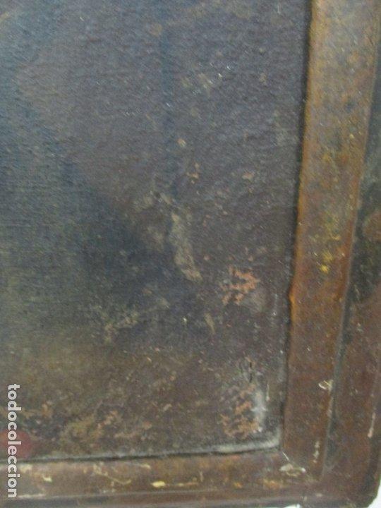 Arte: Pintura - Óleo sobre Tela - Virgen Purísima - Escuela Española - con Marco Original - S. XVIII - Foto 11 - 174965448