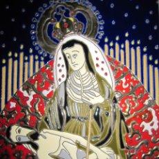 Arte: EXCEPCIONAL CERÁMICA ESMALTADA PINTADA A MANO VIRGEN SANTA MARÍA DE ÁFRICA. Lote 174994512