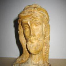 Arte: TALLA ANTIGUA JESÚS JESUCRISTO CRISTO MADERA OLIVO. Lote 175041095