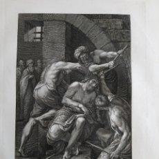 Arte: 1830 AGUAFUERTE CORONACIÓN DE ESPINAS DE NUESTRO SEÑOR JESUCRISTO FRANCESCO ROSASPINA. Lote 175060722