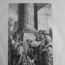 Arte: 1830 AGUAFUERTE LA VOCACIÓN DE SAN MATEO MATTEO LUDOVICO CARACCI FRANCESCO ROSASPINA CM. 47X30. Lote 175061750