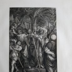 Arte: 1830 AGUAFUERTE PREDICACIÓN DE SAN JUAN EL BAUTISTA LUDOVICO CARACCI ROSASPINA CM. 47X30. Lote 175061844