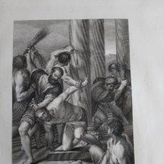 Arte: 1830 AGUAFUERTE LA FLAGELACIÓN DE JESÚS ATADO A LA COLUMNA CARACCI ROSASPINA. Lote 175062154