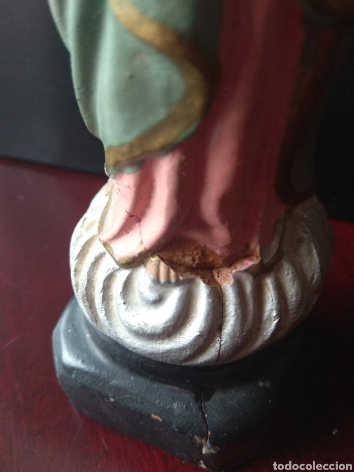 Arte: Escultura de Terracota Sagrado Corazón de María - Leer Descripción - - Foto 8 - 175064013