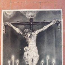 Arte: CRIST DE LA PURÍSSIMA SANG DE REUS. IMPRESIONANTE DIBUJO AL CARBÓN AÑOS 30 DEL S.XX. PIEZA ÚNICA.. Lote 175194655