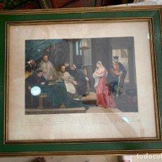 Arte: GRABADO DEL INTERROGATORIO Y SENTENCIA DE CORNELIA - MEDIDA MARCO 62X52 CM. Lote 175195748