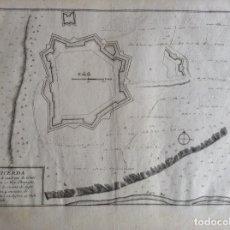 Arte: MAPA ANTIGUO GIRONA GERONA ORIGINAL S XVIII PUIGCERDA PUICERDA, CATALUÑA, LE FER. Lote 175217317
