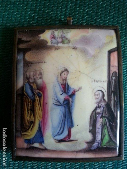 S. XVII. ICONO ESMALTADO POPE RUSO. MUY BUEN ESTADO DE CONSERVACIÓN. (Arte - Arte Religioso - Iconos)