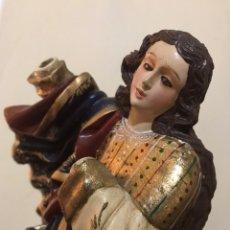 Arte: IMAGEN RELIGIOSA. TALLA DE MADERA POLICROMADA. 29 CMS DE ALTURA.. Lote 175257974