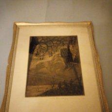 Arte: ANTIGUO GRABADO POSIBLEMENTE . OLOF AUGUST ANDREAS JERNBERG,FIRMADO A LAPIZ G, MUGGIANI.. Lote 175313104